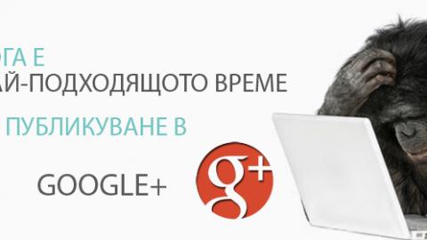 Кога е най – доброто време за публикуване в Google +